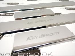 Накладки на пороги из стали FORD EcoSport 2 2017-2020 (рестайлинг), 4шт.