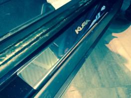 Накладки на пороги из стали FORD Kuga 2 2016-2018 (рестайлинг), 4шт.