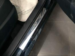 Накладки на пороги из стали Toyota Corolla 2015-2018 (рестайлинг), 4шт.