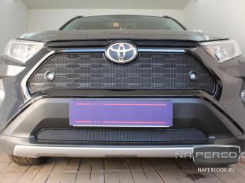 Защита радиатора ПРЕМИУМ TOYOTA RAV4 5 2019-2021 (XA50)
