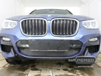 Зимняя защита радиатора на стяжке BMW X3 3 (G01) 2017-2020