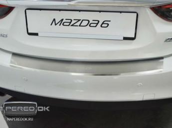 Накладка на задний бампер MAZDA 6 2015-2018 (рестайлинг)