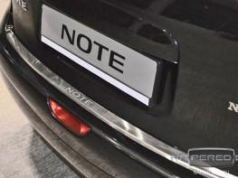 Накладка на задний бампер NISSAN Note 2009-2014 (рестайлинг)