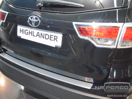 Накладка на задний бампер TOYOTA Highlander 3 2013-2016