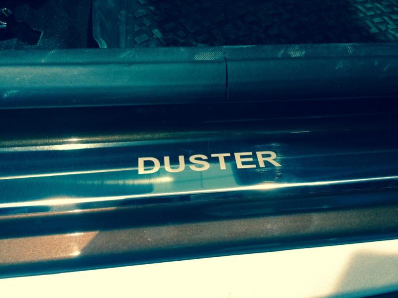 Накладки на пороги из стали RENAULT Duster 2015-2020 рестайлинг