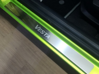 Накладки на пороги из стали LADA Vesta 2015-2020, 4шт.