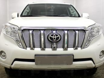 Защита радиатора ПРЕМИУМ TOYOTA  Land Cruiser Prado 150 2013-2017 (рестайлинг)