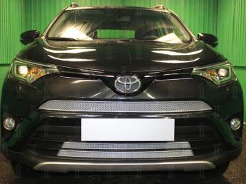 Защита радиатора ПРЕМИУМ TOYOTA RAV4 4 2015-2019 (CA40) (рестайлинг)
