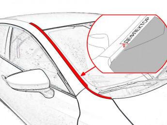Дефлекторы лобового стекла UAZ