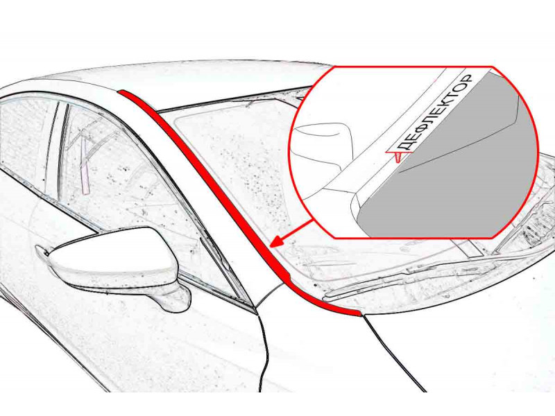 Дефлекторы лобового стекла NISSAN