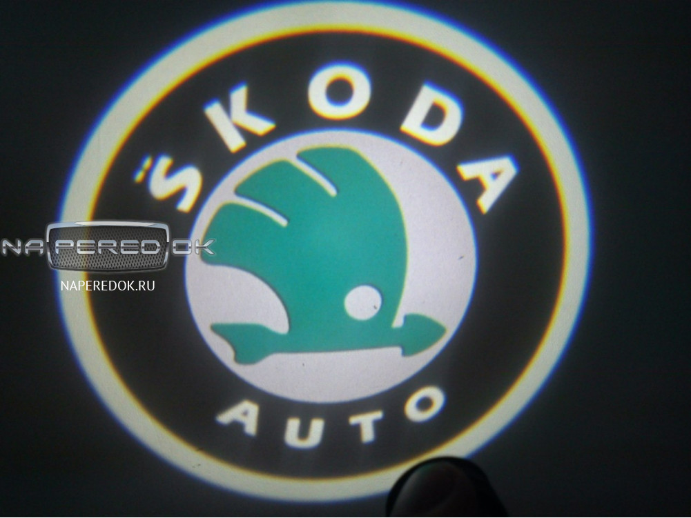 как подсоединить led logo skoda