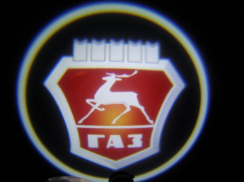 LED проекции ГАЗ красная 5е поколение 7w