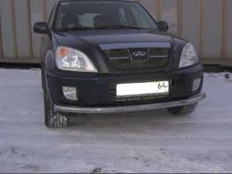 Chery Tiggo защита переднего бампера 2012-50,8