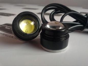 Точечные ходовые огни на клейкой основе 2линзы 3Вт d22мм