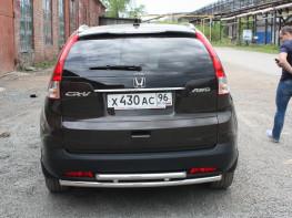 Защита задняя двойная D 50,8/50,8 Honda CR-V 2012- 2.4