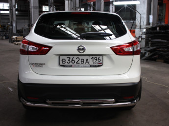 Защита задняя двойная D 60,3х42,4 Nissan Qashqai 2014-