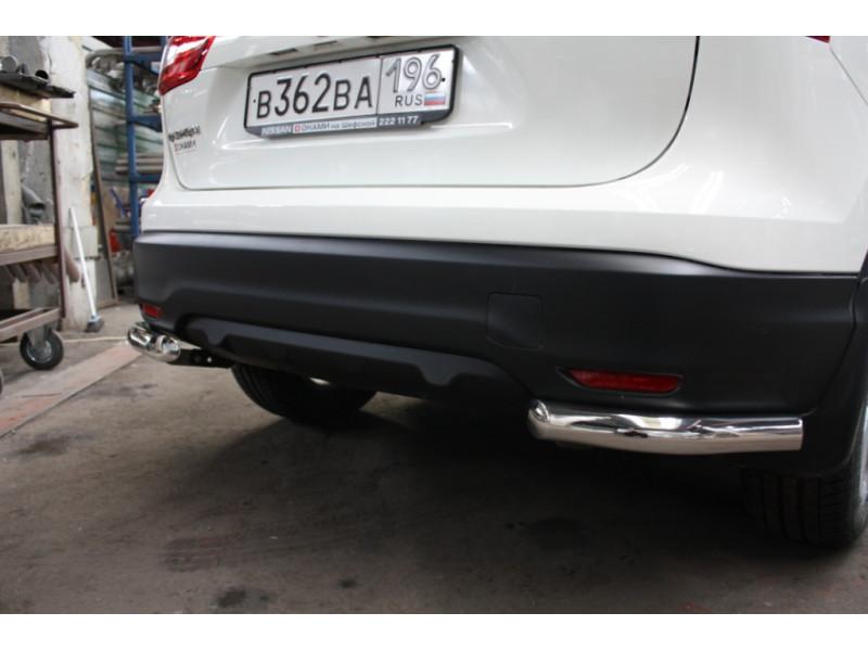 Защита задняя уголок D 60,3 Nissan Qashqai 2014-