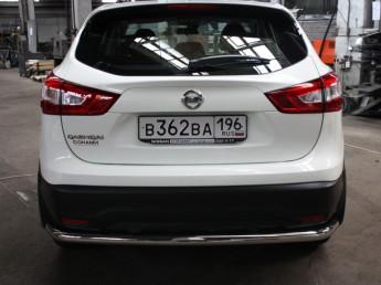 Защита задняя D 60,3 Nissan Qashqai 2014-