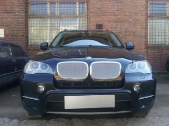 Защитная сетка радиатора ПРЕМИУМ BMW X5 (E70) 2006-2013