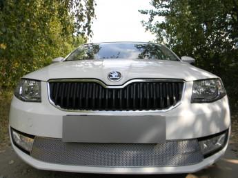 Защита радиатора ПРЕМИУМ SKODA Octavia А7 2013-2017 (Ambition, Elegance)