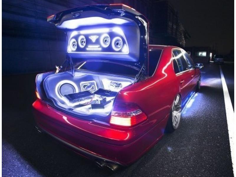 Подсветка неоновая автомобиля одноцветная.