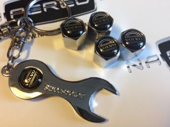 Колпачки на ниппель с логотипом VOLVO black