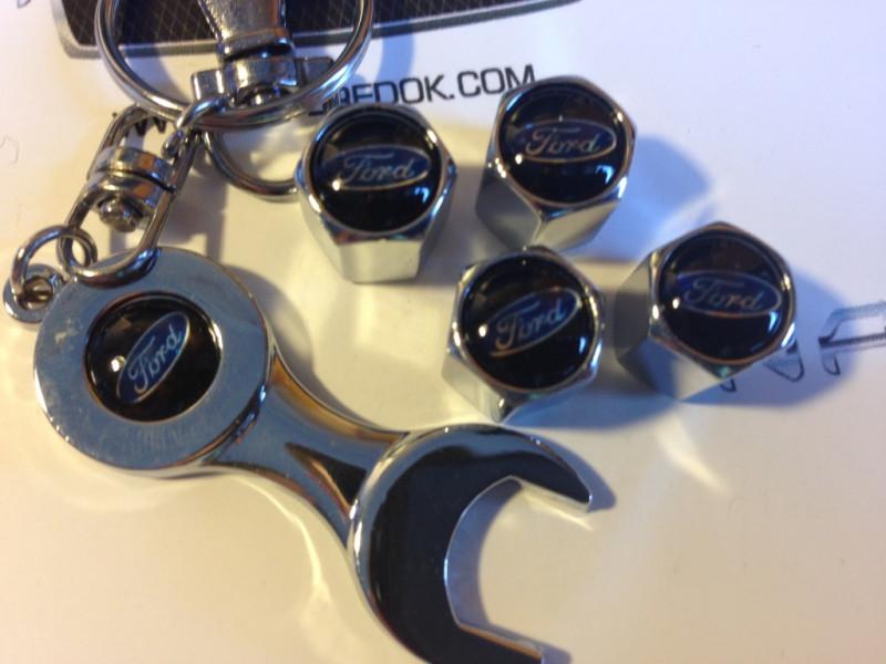 колпачки на ниппель с логотипом FORD black
