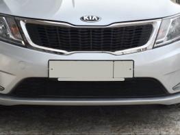 Защита радиатора ЛЮКС KIA Rio 2011-2014 Premium