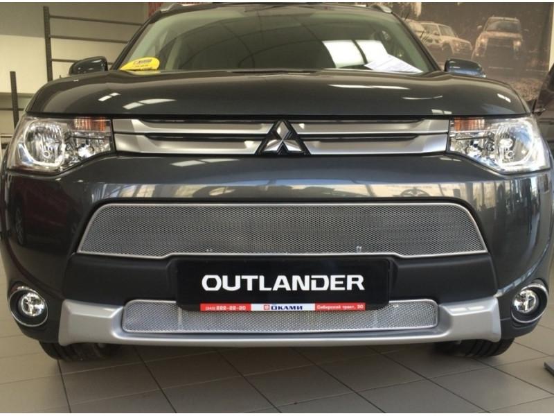 Защита радиатора ЛЮКС MITSUBISHI Outlander 3 2012-2015 (рестайлинг)
