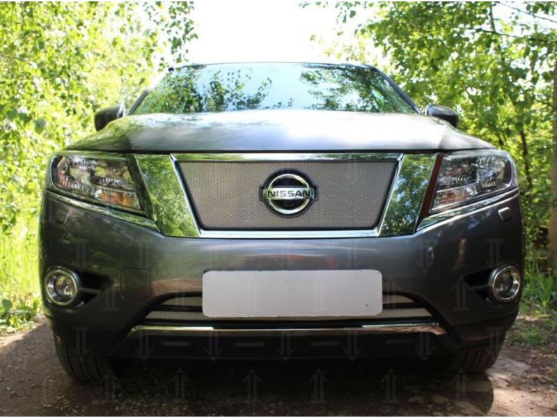 Защитная сетка радиатора Nissan Pathfinder 2014-2018