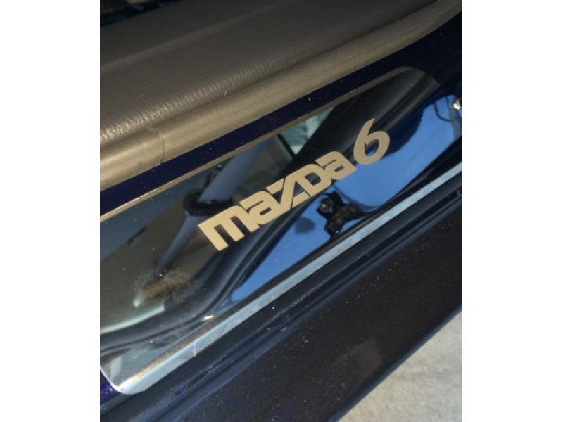 Накладки на пороги из стали MAZDA 6 2012-2015
