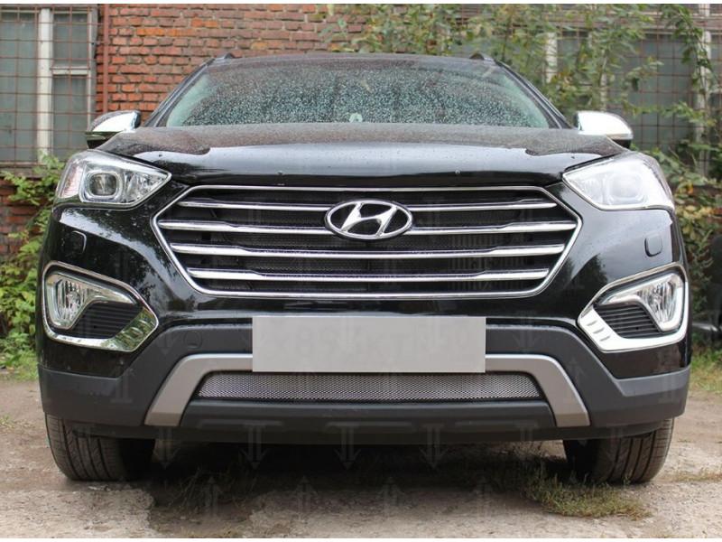 Защита радиатора  Hyundai Grand Santa Fe III 2013-2015