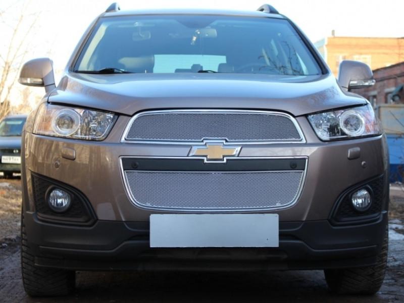 Защита радиатора ПРЕМИУМ Chevrolet Captiva 2013-2017 рестайлинг 2