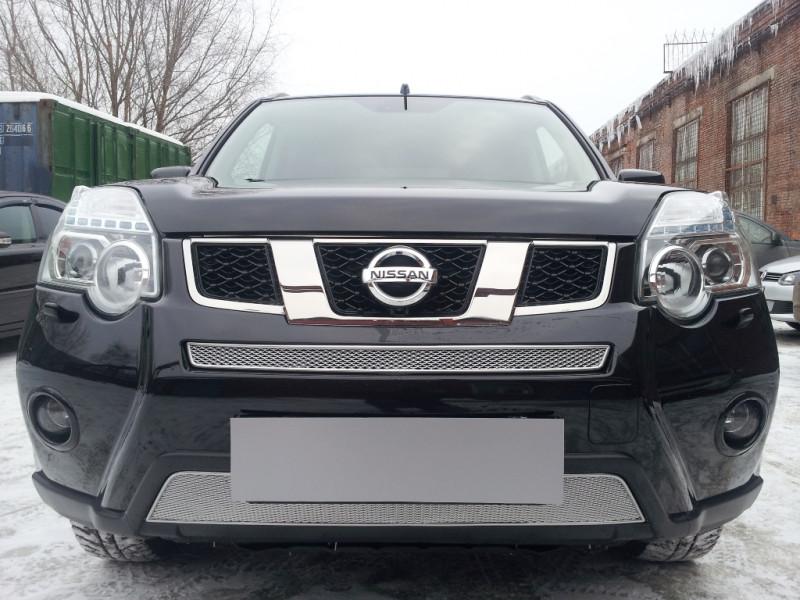 Защита радиатора Nissan X-Trail  2011-2015 ПРЕМИУМ