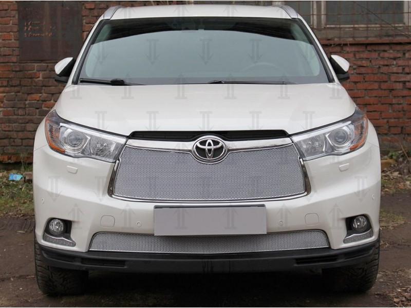 Защита радиатора ПРЕМИУМ Toyota Highlander 3 U50 2013-2016