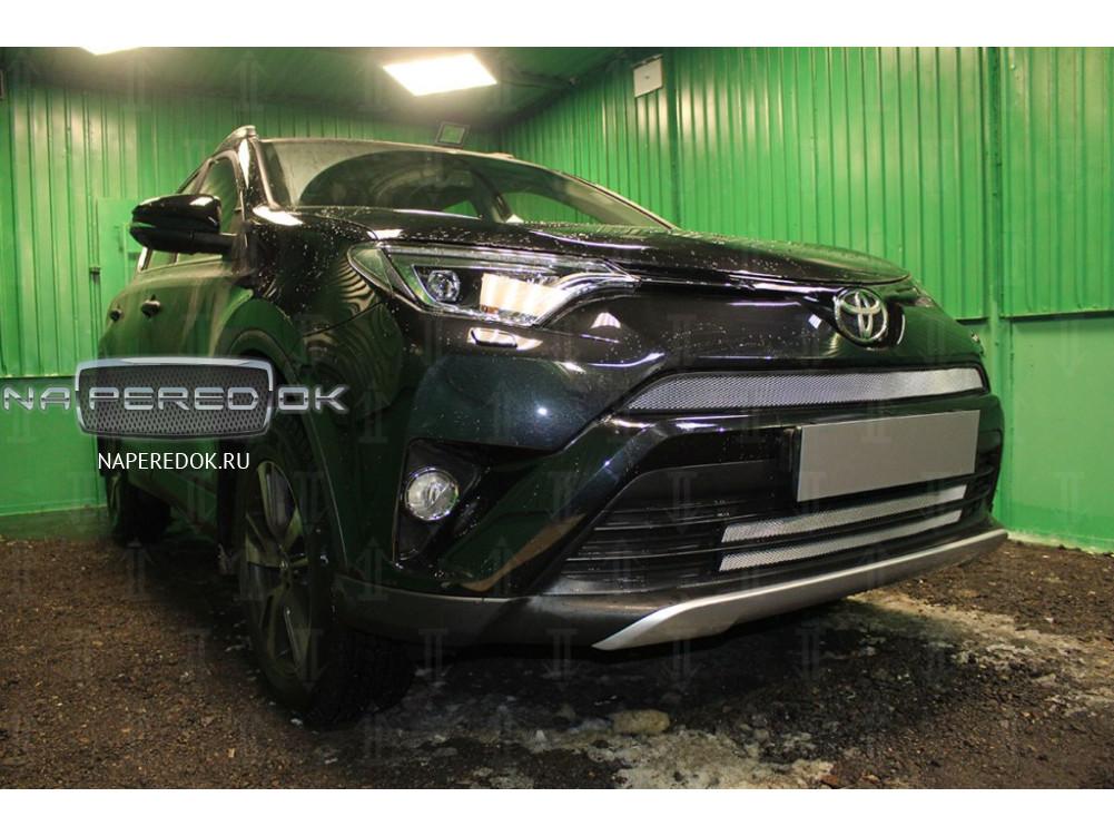 Защита радиатора Toyota Rav 4 Ca40 2015 2017 рестайлинг