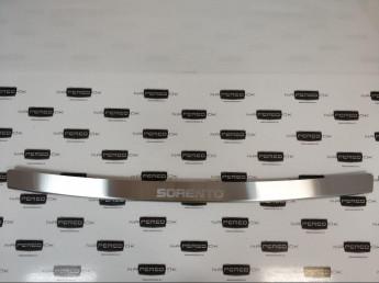 Накладка на задний бампер нерж.сталь с загибом KIA Sorento 3 Prime 2017-2020 (UM) (рестайлинг)
