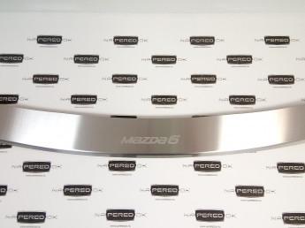 Накладка на задний бампер нерж.сталь с загибом MAZDA 6 2012-2014