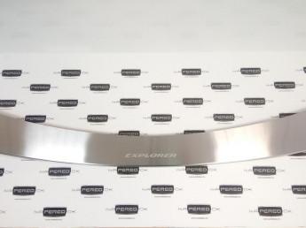 Накладка на задний бампер нерж.сталь с загибом FORD Explorer 5 2015-2017 (рестайлинг)