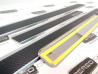 Накладки на пороги из стали LADA Vesta 2015-2021 carbon, 4шт.