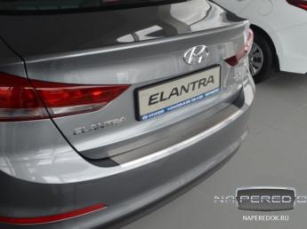 Накладка на задний бампер нерж.сталь с загибом HYUNDAI Elantra 6  (AD) 2015-2019