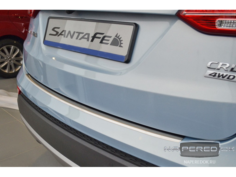 Накладка на задний бампер HYUNDAI Santa Fe 3 2013-2016
