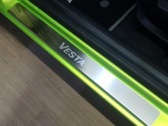 Накладки на пороги из стали LADA Vesta 2015-2021, 4шт.
