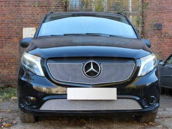 Защита радиатора ПРЕМИУМ Mercedes-Benz Vito 3 W447 2014-2021
