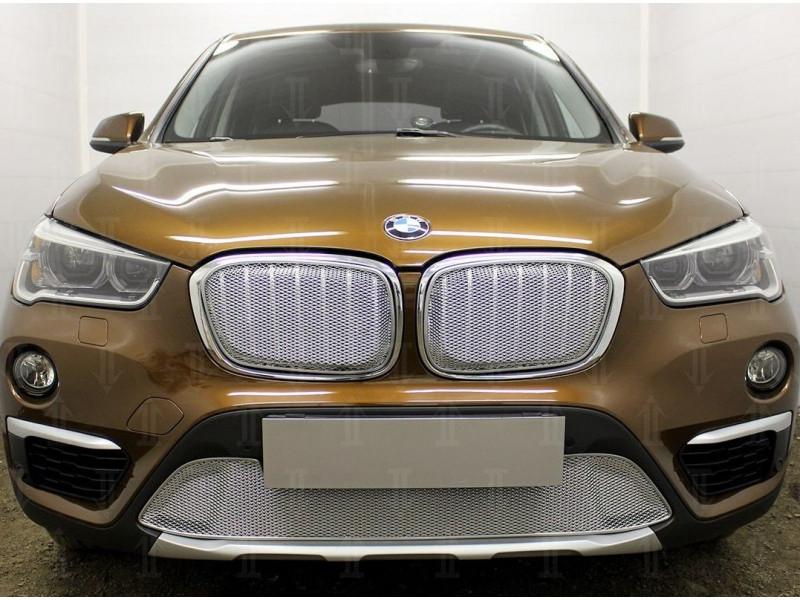 Защита радиатора ПРЕМИУМ BMW X1 2 (F48) 2015-2019
