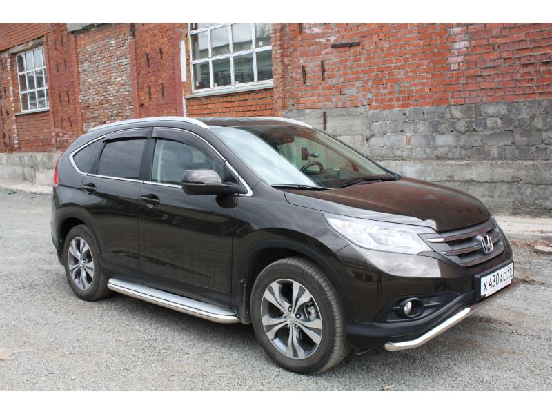 Пороги с площадкой D 60,3 Honda CR-V 2012- 2.4