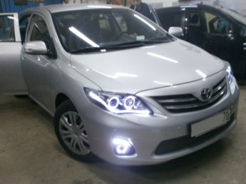 ДХО в Штатные места Toyota Corolla 2011-2013