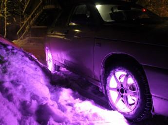 Подсветка неоновая автомобиля многоцветная.