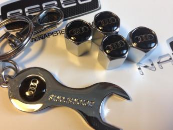 Колпачки на ниппель с логотипом AUDI black