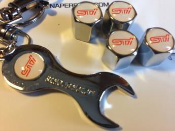 колпачки на ниппель с логотипом STI white